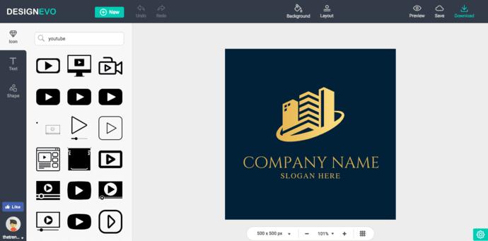 DesignEvo Fonts and Icons