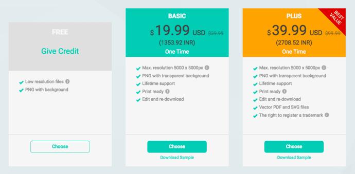 DesignEvo Pricing