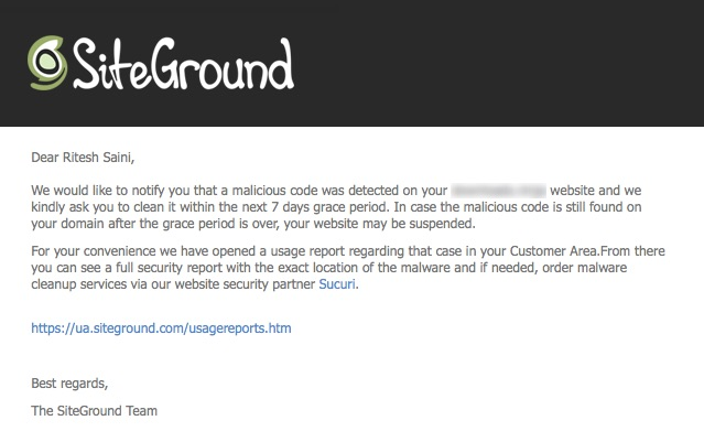SiteGround Malware Detection