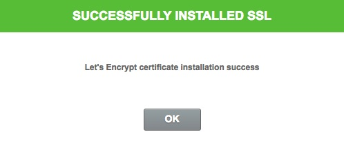 SiteGround SSL Installed Successfully