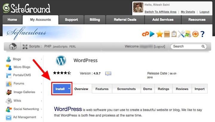 SiteGround WordPress Auto Installer