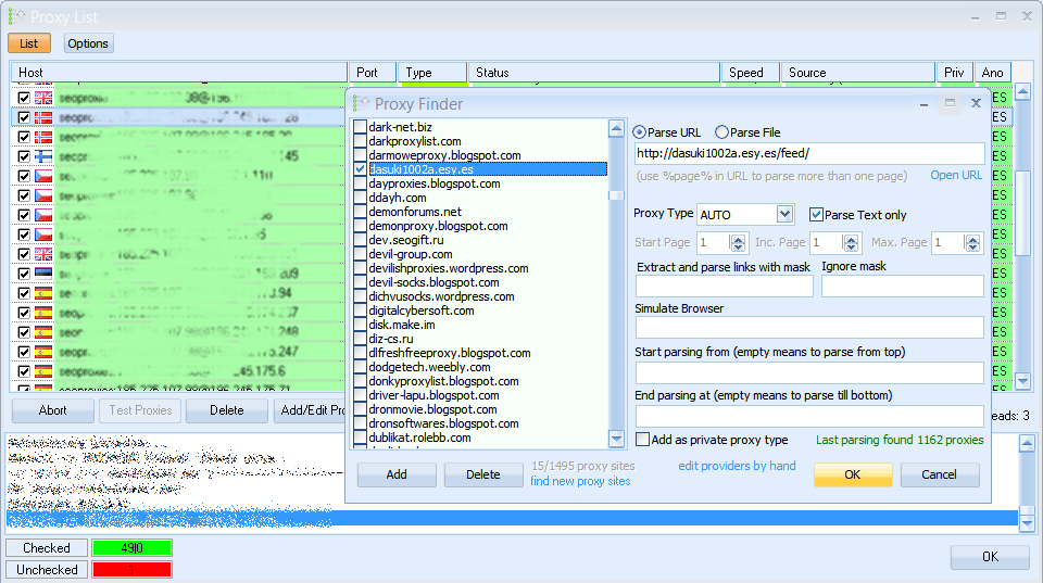 GSA SER Proxy Scraper