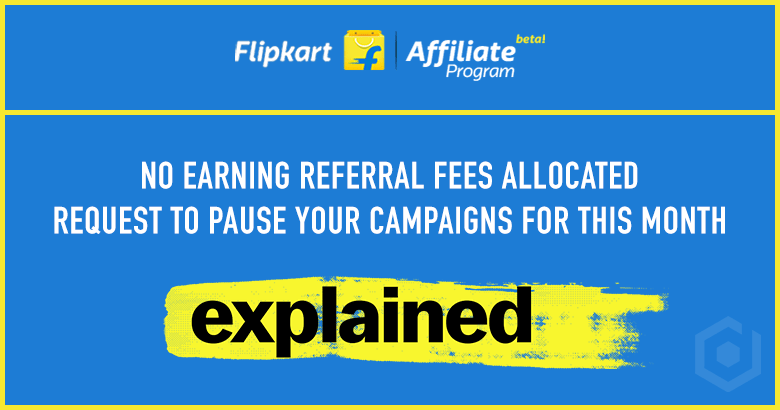 Flipkart Affiliate No Earning Referral Fees Allocated