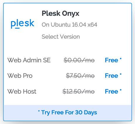 Vultr Plesk Onyx Free