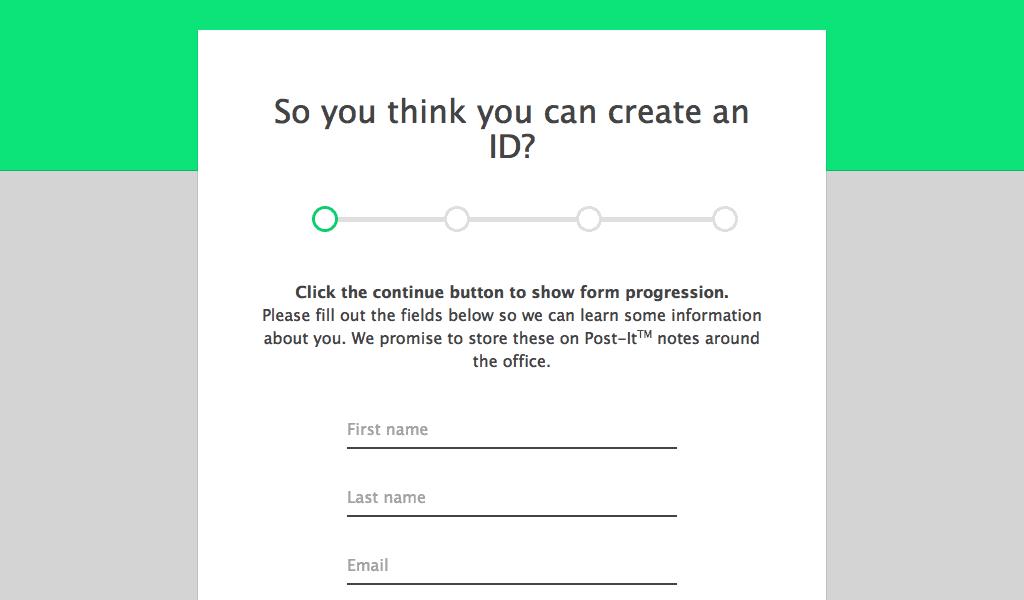 Form Progress Bar