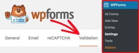 WPForms Form Validation