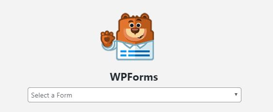 WPForms Gutenberg Editor