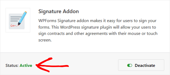 WPForms Signtaure Addon