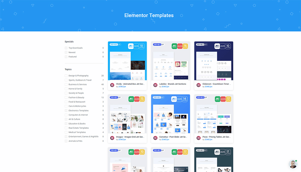 ONE Membership Elementor Templates