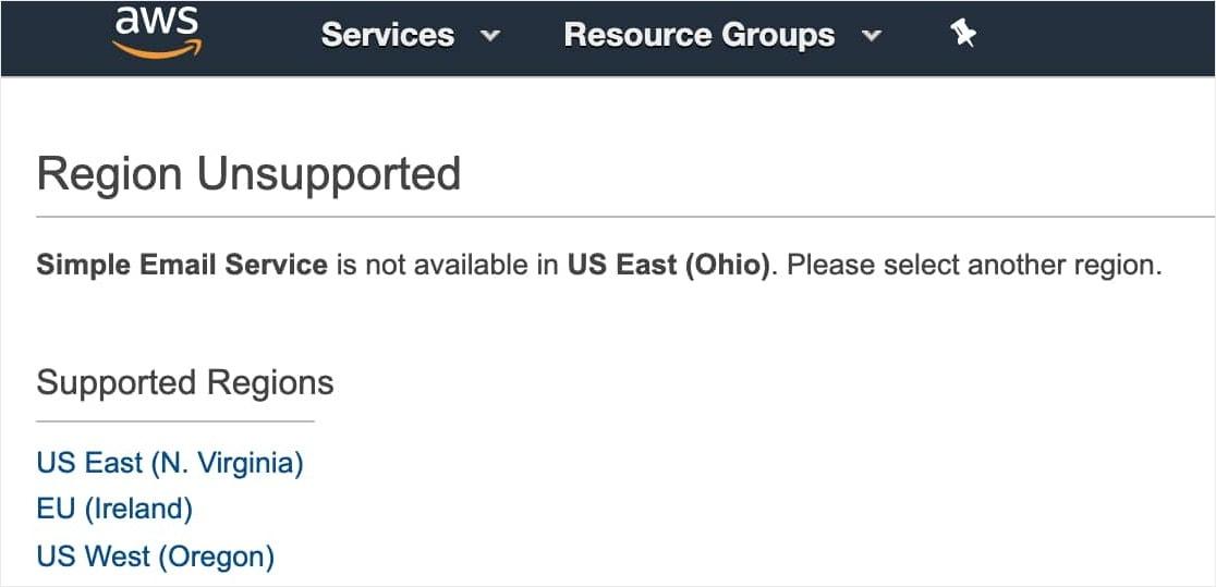 AWS Configure Region