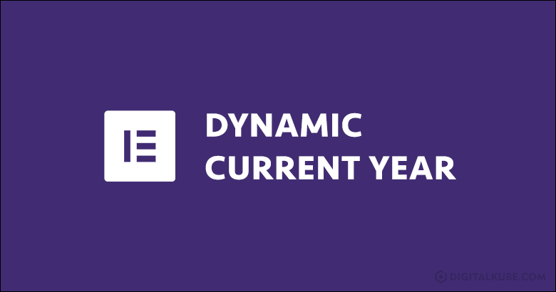 Dynamic Current Year Elementor