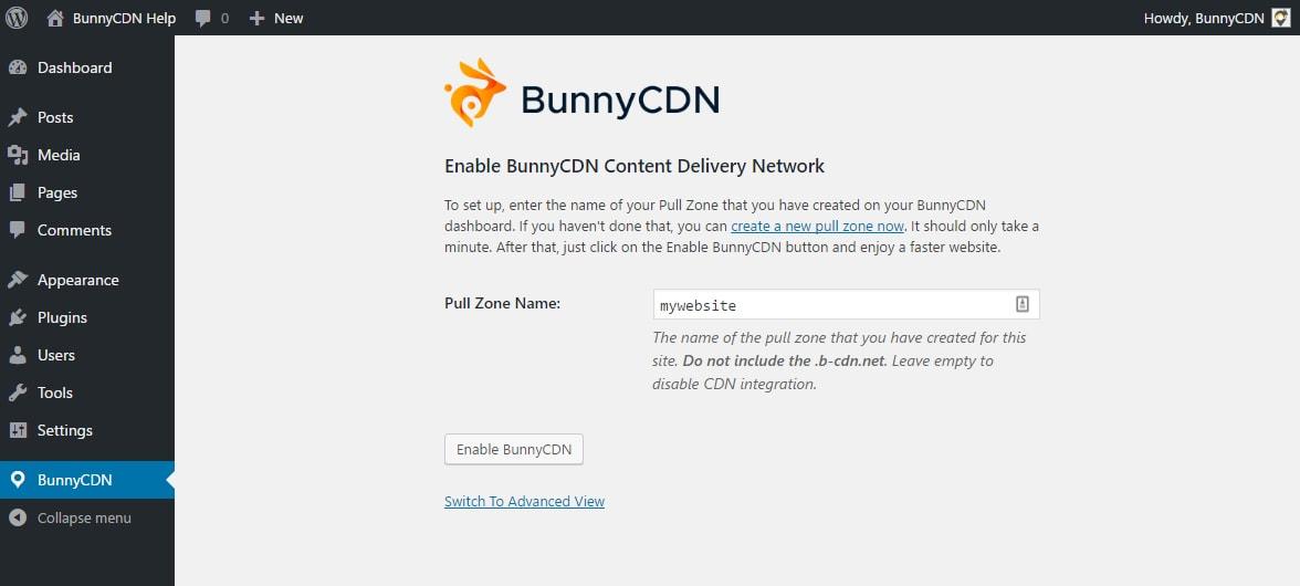 BunnyCDN WordPress Setup