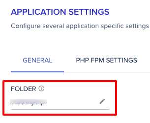 Cloudways Application Folder Name