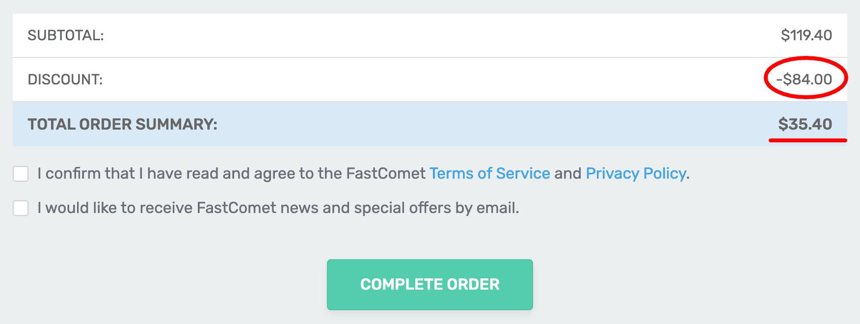 FastComet Discount