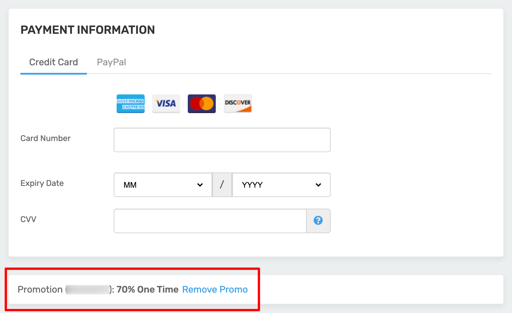 FastComet Payment Information